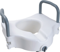 "Raised Toilet Seat with Arms and Lock, 5"" EA 1"