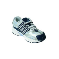 Stride Lite Sport Mesh Diabetic Shoe with Laces, X-Wide, White/Blue BX 100