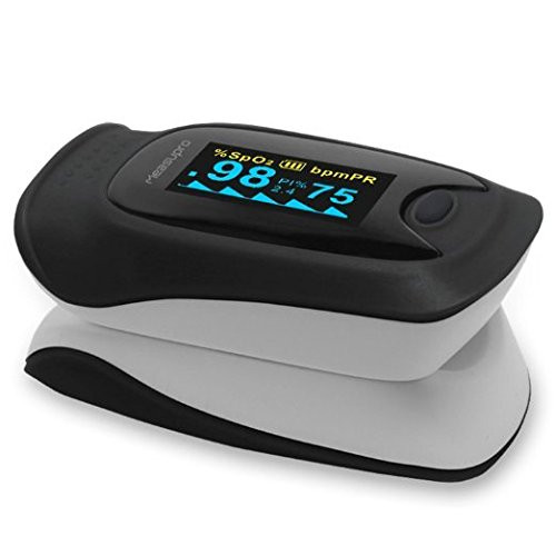 Digital Pulse Oximeter, Oxygen Sensor and Pulse Rate Monitor with Carry  Case and Lanyard CE, FDA Approved