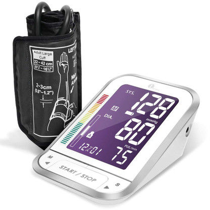 Digital Blood Pressure Monitor Blood Pressure Cuff with Easy-to-Read Back-lit LCD, Blood Pressure Monitor Large Cuff