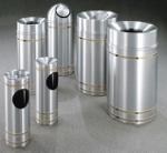 aluminum trash cansjpg - Decorative Trash Cans