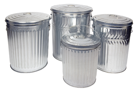galvanized trash can galvanized trash cans heavy duty metal garbage can 28544