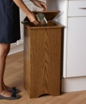 ... Kitchen Wood Trash Cans ...