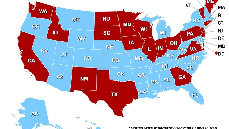 States with mandatory recycling