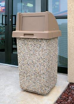 Exceptional Outdoor Concrete Garbage Can ...