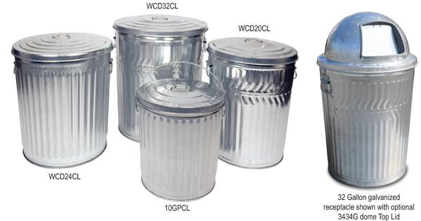 Witt Galvanized Garbage Cans