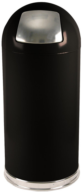 15 Gallon Metal Push Door Dome Top Trash Can 15DT (6 Colors Dog Proof) & 15 Gallon Metal Push Door Dome Top Trash Can 15DT (6 Colors Dog ... Pezcame.Com