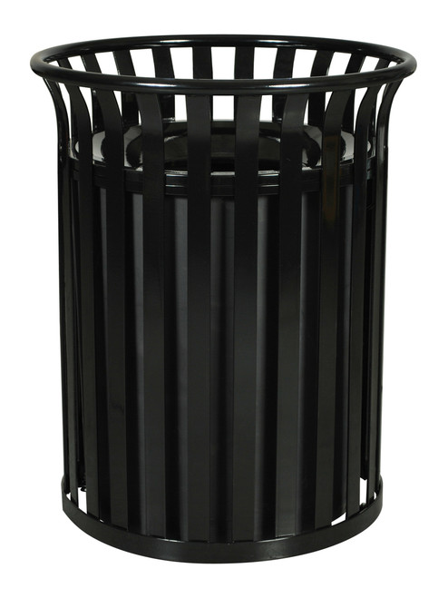 Aluminium Garbage Cans : Gallon sc metal outdoor streetscape trash can