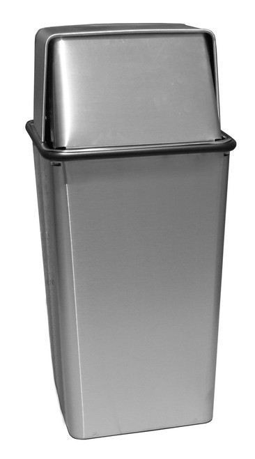 18385858ecc Dome Top Receptacles  - Outdoor Trash Cans. Steel Dome Top Trash ...
