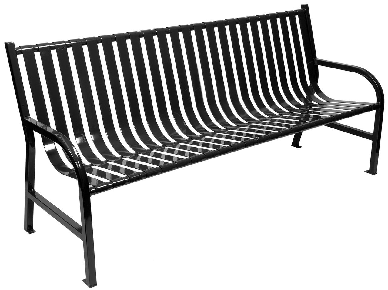 6 Foot Oakley Indoor Outdoor Slatted Bench M6 Bch