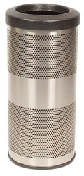 10 Gallon Stadium Series Stainless Steel Trash Container SC10-01-SS