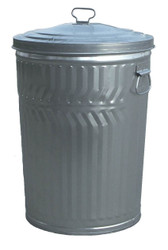 20 Gallon Light Duty Galvanized Trash Can with Lid WCD20CL