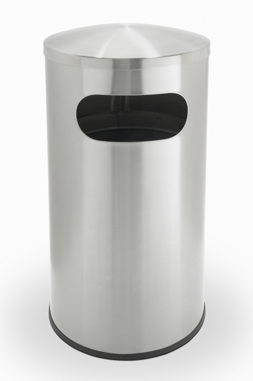 ef61338bbed 15 Gal. Allure Stainless Steel Side Entry Can 780329