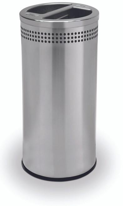 gallon stainless steel recycling trash can garbage small metal home depot compactor
