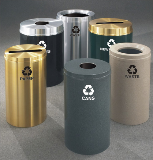 Metal Recycling Trash Can In 29 Colors And 3 Sizes