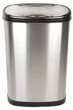 Good 13 Gallon Touchless Automatic Kitchen Trash Can Stainless Steel DZT 50 13