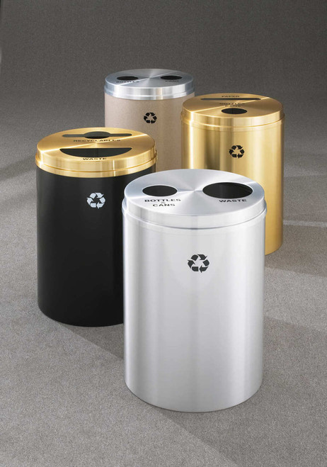 33 gallon glaro 2 in 1 dual purpose recycling trash can. Black Bedroom Furniture Sets. Home Design Ideas