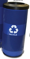 20 Gallon Stadium Series Mesh Metal Recycling Trash Can SC20-01-RCBL