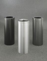 Bathroom Trash Cans (4 Sizes, 30 Colors) (Satin Black, Satin Aluminum, Silver Vein Shown)