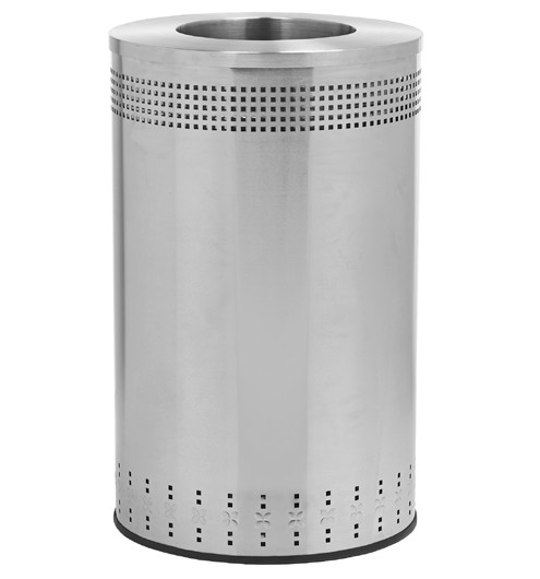 45 gallon precision series stainless steel trash can commercial zone