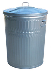 32 Gallon Heavy Duty Galvanized Trash Can with Lid WHD32CL