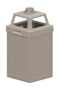 bff8fb66341 24 Gallon Plastic Ash Trash Outdoor Waste Container TF1898