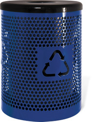 32 Gallon Ultra Site Metal Street Park Recycle Bin EX32RE (Many Options, 5 Colors)