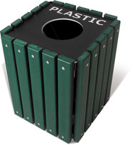 20 Gallon Ultra Site Square Recycling Bin or Trash Can TRSQ20 (Many Options, 5 Colors)