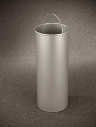 11 Gallon Round Galvanized Liner for Glaro Recycle Bins & Trash Cans