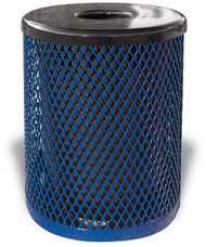 Diamond Pattern Trash Can