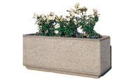 66 x 18 x 30 Outdoor Rectangular Concrete Planter TF4169 Exposed Tan