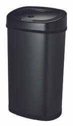 13 Gallon Touchless Automatic Black Kitchen Trash Can DZT-50-9BK Side View
