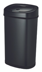 13 Gallon Touchless Automatic Black Kitchen Trash Can DZT 50 9BK Side View