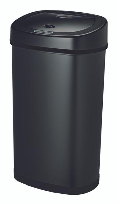 13 gallon touchless automatic black kitchen trash can dzt-50-9bk