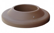 24.75 Inch Plastic Pitch In Lid TF1474 for TF Round Trash Cans (Brown)