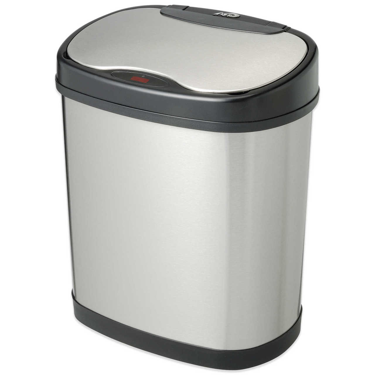 3 Gal Touchless Auto Bathroom Can Steel Dzt 12 13