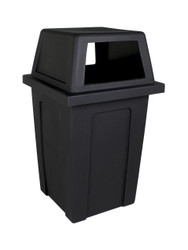 45 Gallon Heavy Duty Plastic Sentry Indoor Outdoor Trash Can Black 90600