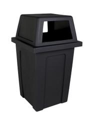 45 Gallon Heavy Duty Plastic Sentry Indoor Outdoor Trash Can Black  101707