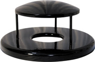27 Inch Rain Canopy Trash Can Lid RBR-55 for Ultrasite Street Baskets (8 Colors)