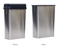 22 Gallon Stainless Steel Rectangular Waste Receptacle With or Without Lid