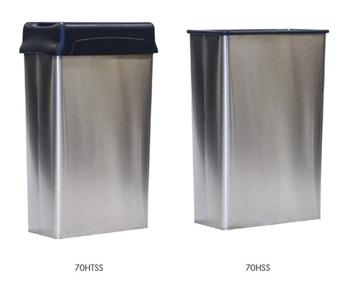or stainless steel waste containers lid with receptacle rectangular swing top cans without can gallon trash trashcans