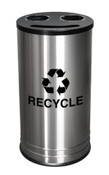 14 Gallon 3 in 1 Combo Recycling Container Stainless Steel RC-1528-3 SS