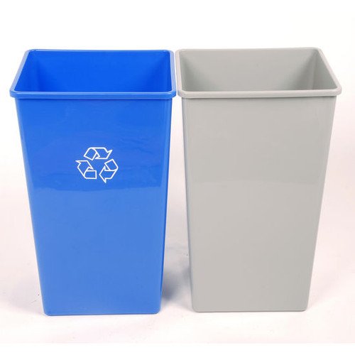 22 gal plastic indoor single stream recycle bin. Black Bedroom Furniture Sets. Home Design Ideas