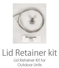 Lid Cable Kit for Steel Outdoor City and Park Trash Cans