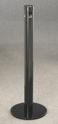 4403BK Satin Black Floor Standing Deluxe Smokers Receptacle