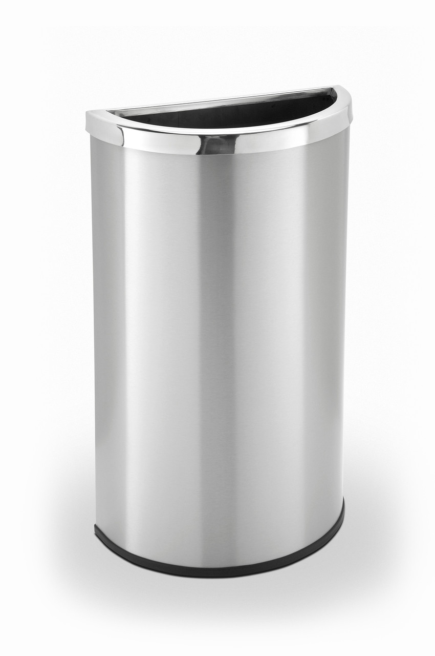 7f170c0ac5a 15 Gallon Half Round Stainless Steel Trash Can Precision Series ...