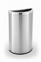 15 Gallon Half Round Stainless Steel Trash Can Precision Series 783929