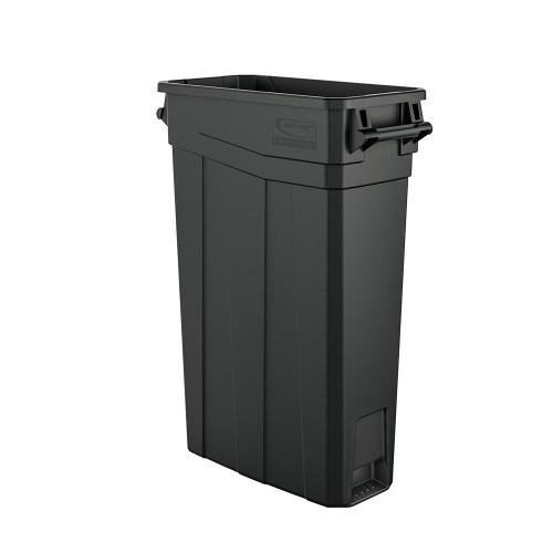 skinny plastic 23 gallon slim trash can with handles tcnh2030. Black Bedroom Furniture Sets. Home Design Ideas
