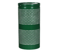 10 Gallon Mesh Trash Can WR-10R HGR GREEN GLOSS with Anchor Kit