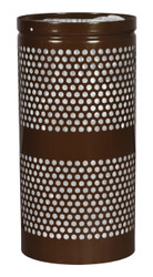 20 Gallon Mesh Trash Can WR-22R COFFEE GLOSS with Anchor Kit